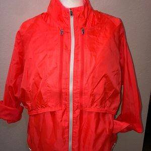 Athleta Orange windbreaker jacket/vest